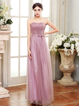 Ericdress Beautiful Strapless A Line Bridesmaid Dress