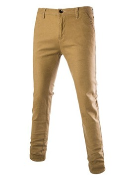 Ericdress Plain Slim Pencil Men's Pants
