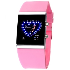 Ericdress Heart Shape Digital LED Watch
