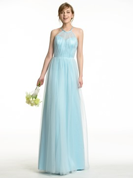 Ericdress Amazing Halter A Line Long Bridesmaid Dress