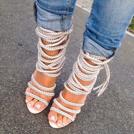 Ericdress Hobo Weaven Stiletto Sandals