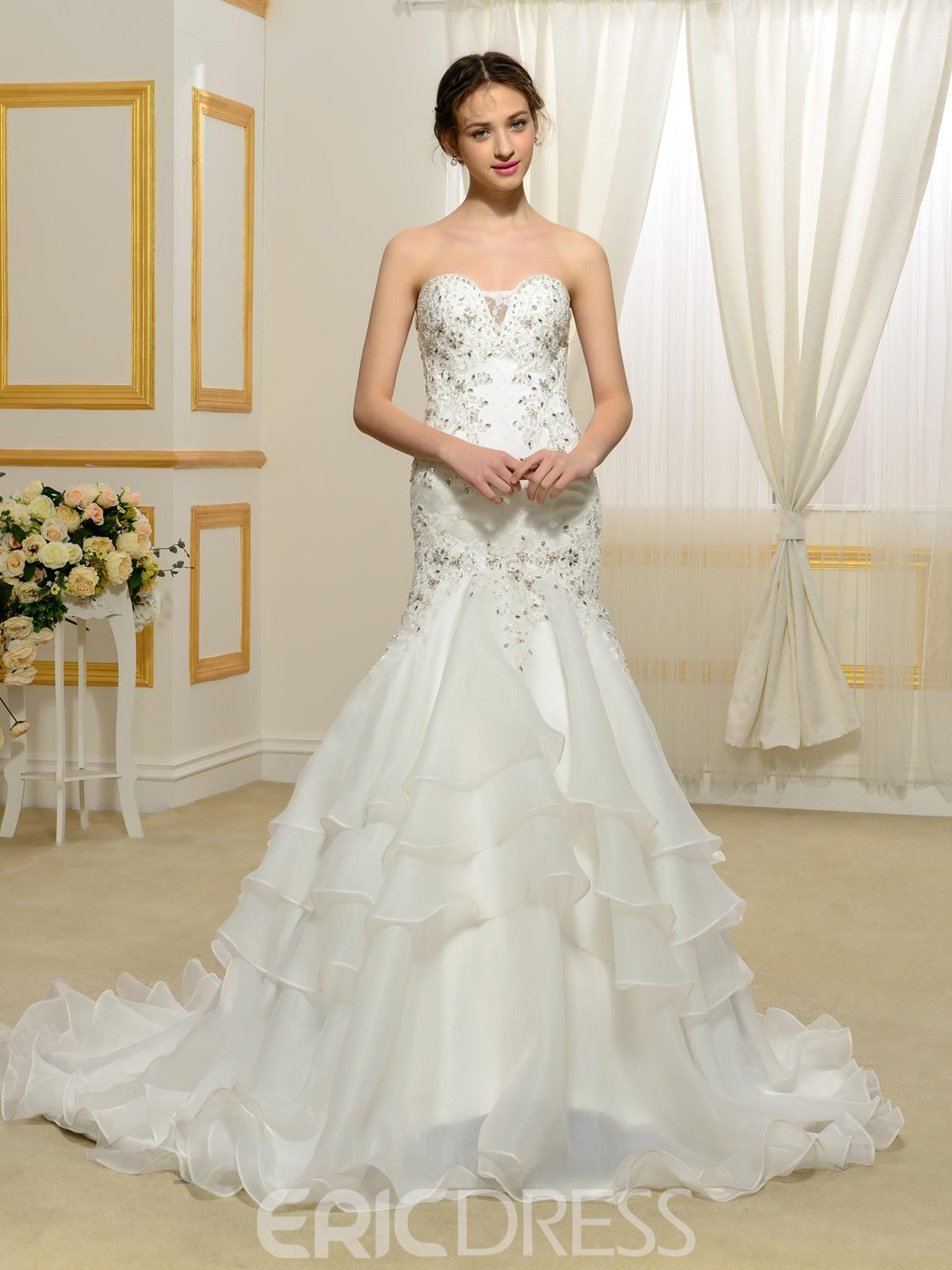 Ericdress High Quality Appliques Sweetheart Mermaid Wedding Dress
