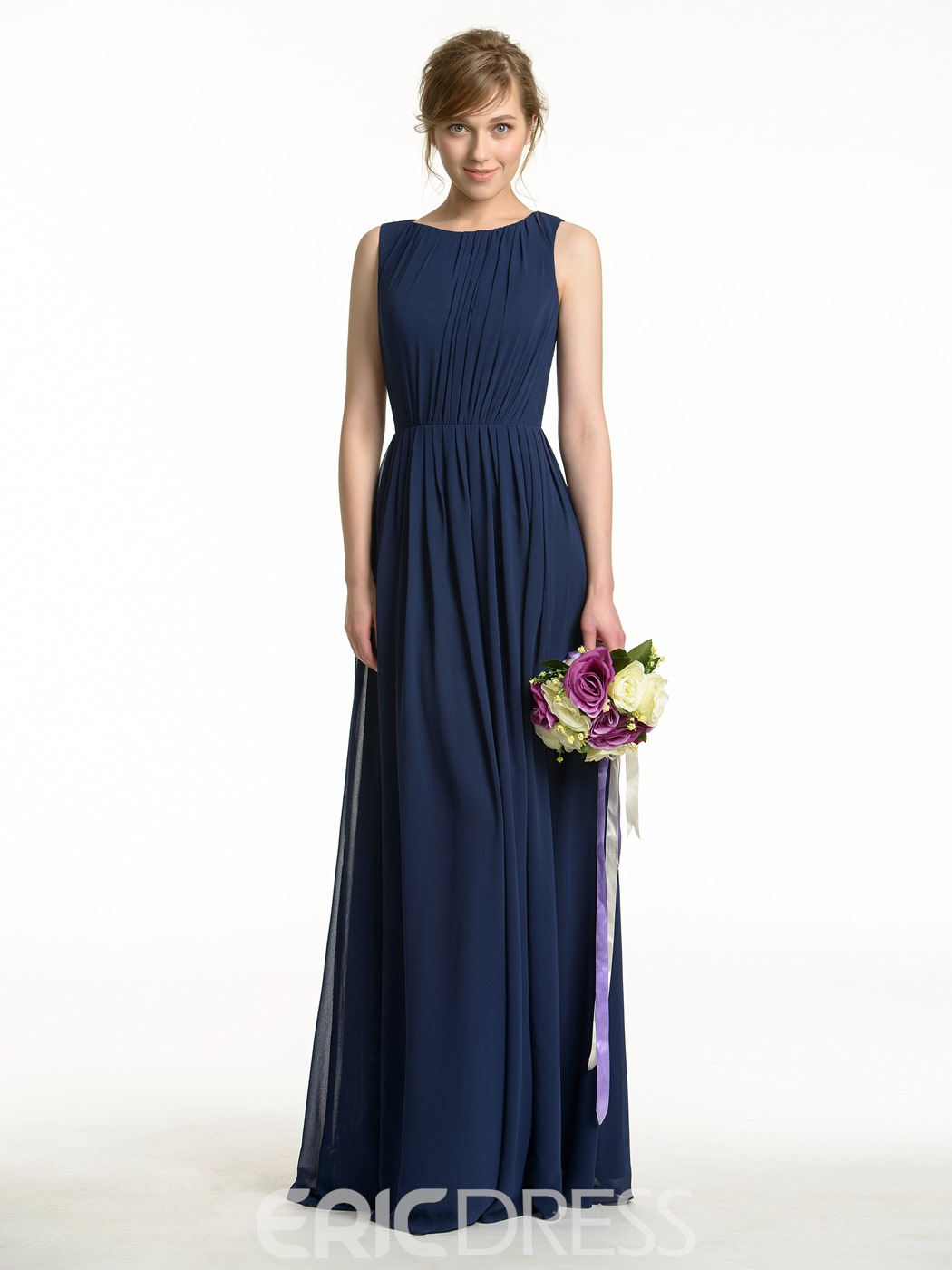 Ericdress High Quality Long Backless Bridesmaid Dress