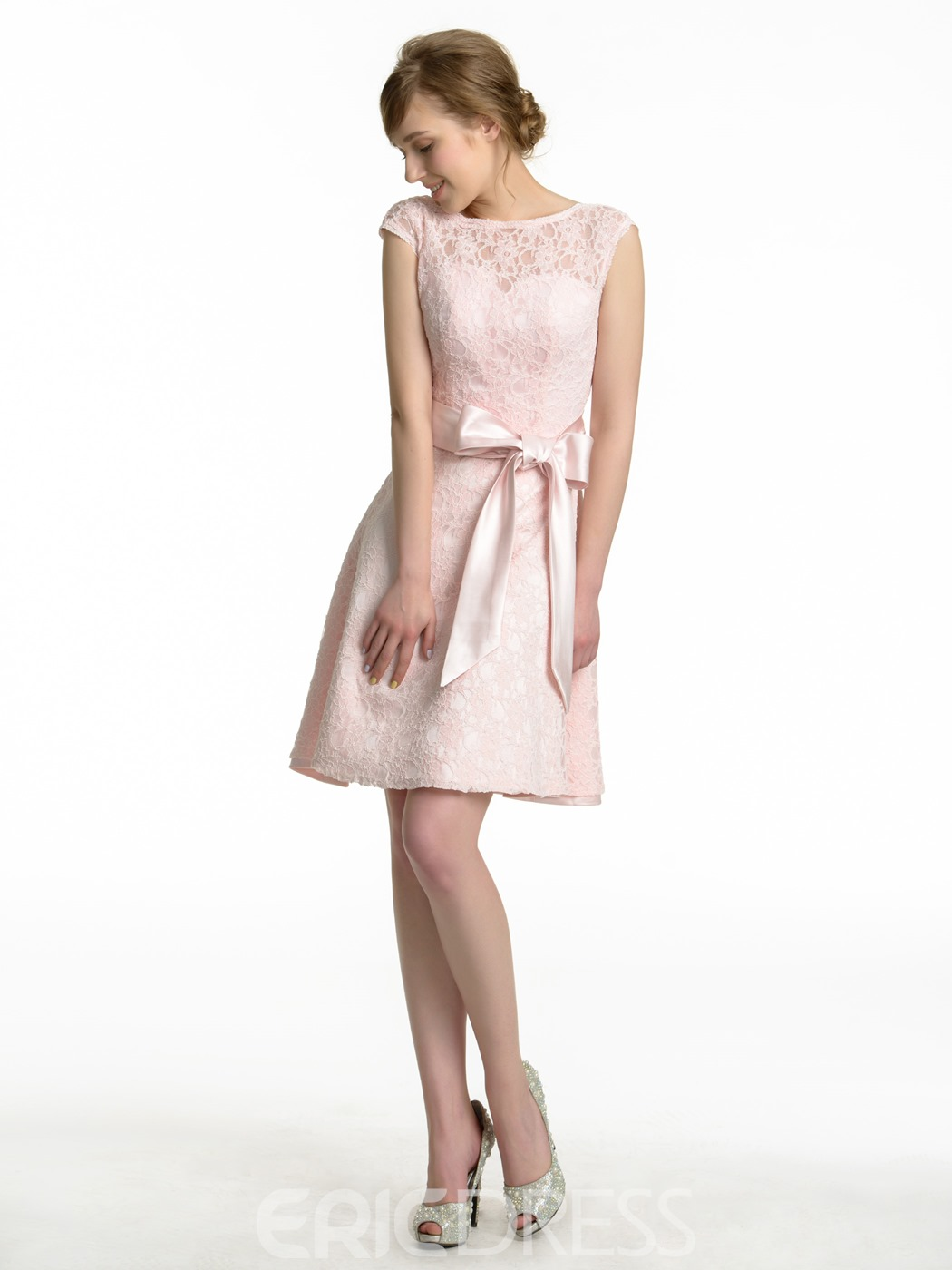 Ericdress High Quality Short Lace Bridesmaid Dress