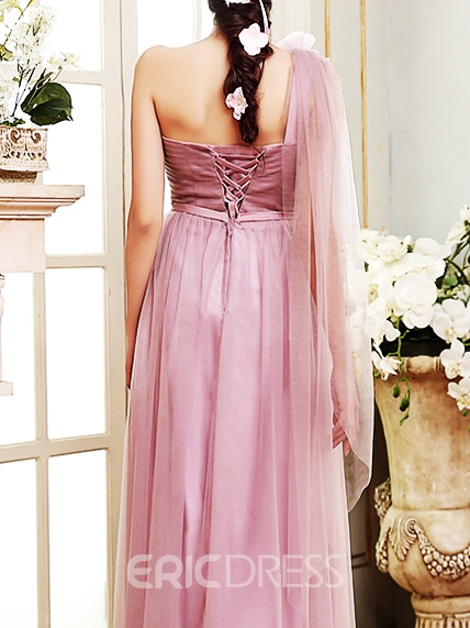 Ericdress Charming One Shoulder A Line Bridesmaid Dress