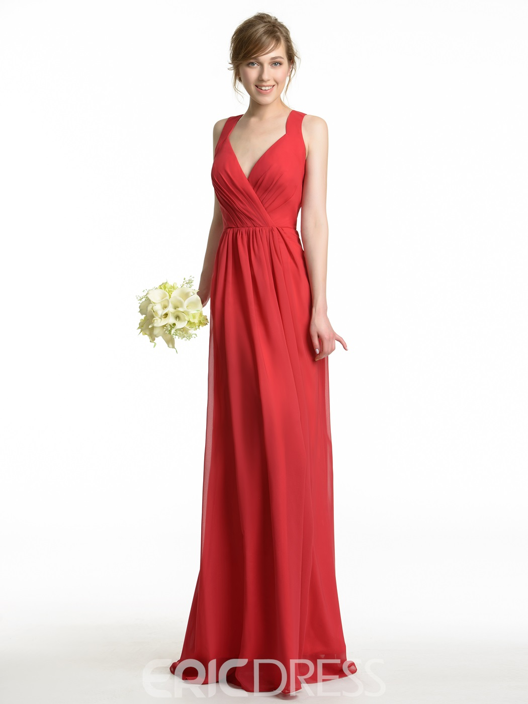 Ericdress High Quality Straps Long Bridesmaid Dress