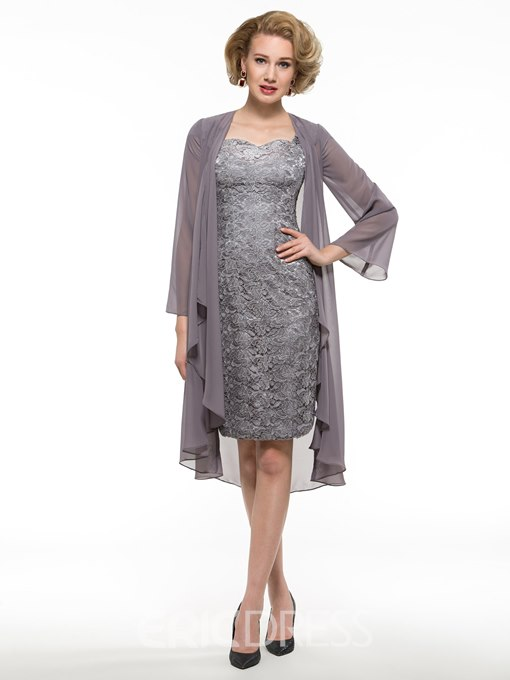 Ericdress Elegant Sheath Lace Mother Of The Bride Dress With Jacket
