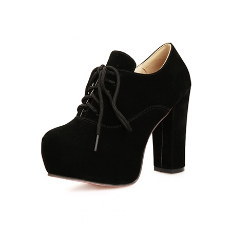 Ericdress Solid Color Suede Chunky Heel Boots