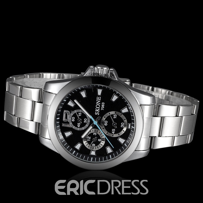 Ericdress JYY Simple Sport Steel Belt Men's Watch