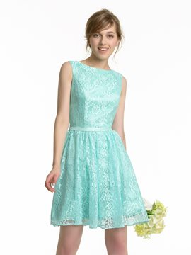 Ericdress Charming Backless Lace Short Bridesmaid Dress