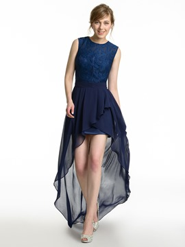 Ericdress Beautiful Lace Asymmetry Bridesmaid Dress
