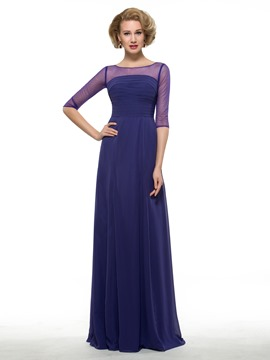 Ericdress Half Sleeves Pleats Mother Of The Bride Dress