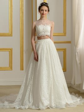 Ericdress Two- Pieces Lace Wedding Dress