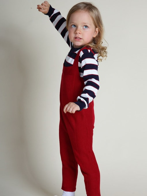 Ericdress Plain Knitting Square Neck Girl's Jumpsuits