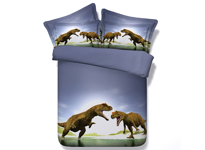 Ericdress Dinosaurs Fighting Print 3D Bedding Sets