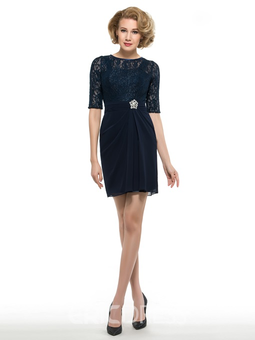 Ericdress Fancy Half Sleeves Lace Mother Of The Bride Dress
