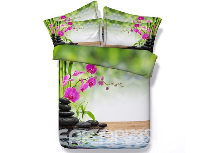 Ericdress Waterside Phalaenopsis Blossom Print 3D Bedding Sets