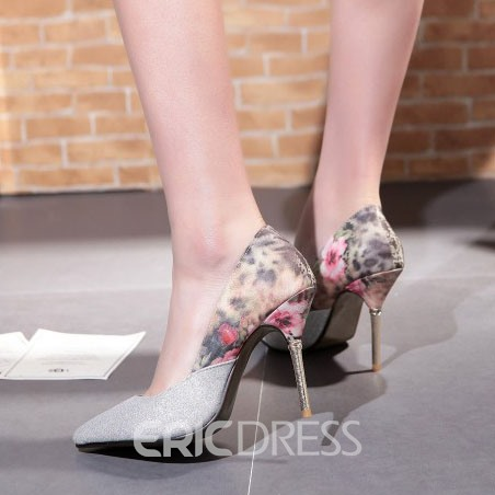 Ericdress Floral Patchwork Pumps