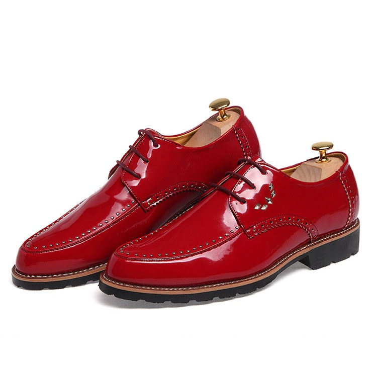 Ericdress Point Toe Rivets Decorated Men's Oxfords