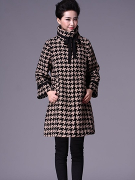 Ericdress Elegant Houndstooth Coat