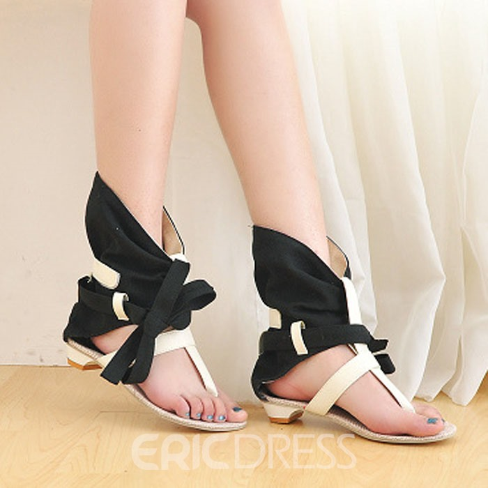 Ericdress Roman Fashion Clip-toe Flat Sandals