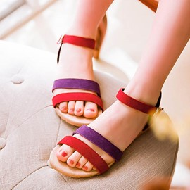 Ericdress Bright Patchwork Flat Sandals