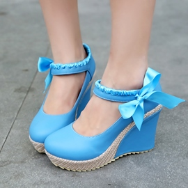 Ericdress Charming Bowknot Wedges