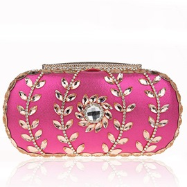 Ericdress Wheat Applique Rhinestone Clutch