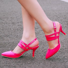 Ericdress Candy Color Point Toe Stiletto Sandals