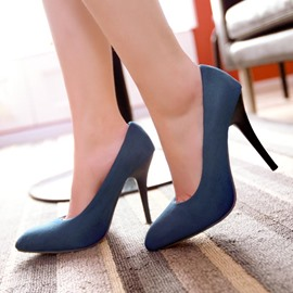 Ericdress Pretty Suede Point Toe Pumps