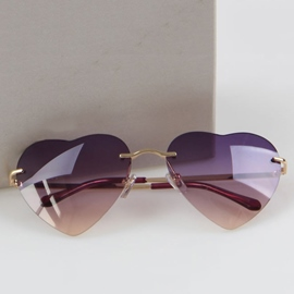 Ericdress Heart Shape Resin Sunglasses