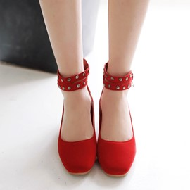 Ericdress Rivets Decoration Flats