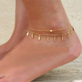 Ericdress Simple Tassel Leaf Anklet