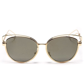 Ericdress Hollow Cat Eye Round Sunglasses