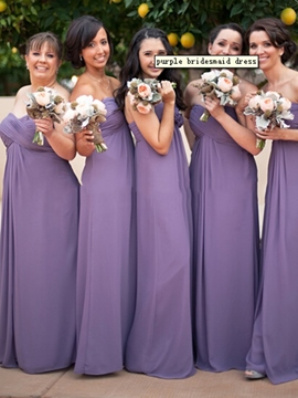 Ericdress Pleats Sleeveless A-Line Bridesmaid Dress