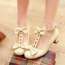 Ericdress T Strap Bowtie Decorated Flat Sandals
