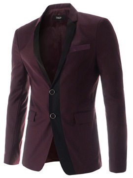 Ericdress Patched Slim Vogue Men's Blazer
