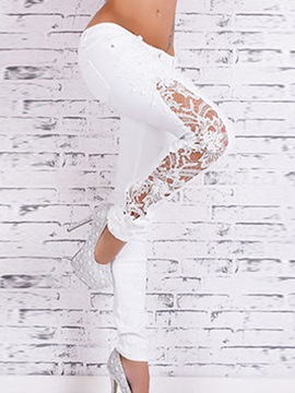 Ericdress Skinny Pencil Lace Jeans