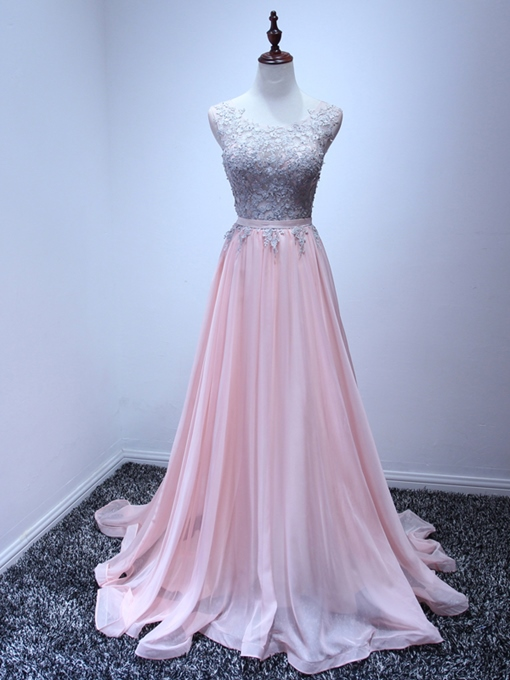 Ericdress Scoop Neck Appliques Prom Dress