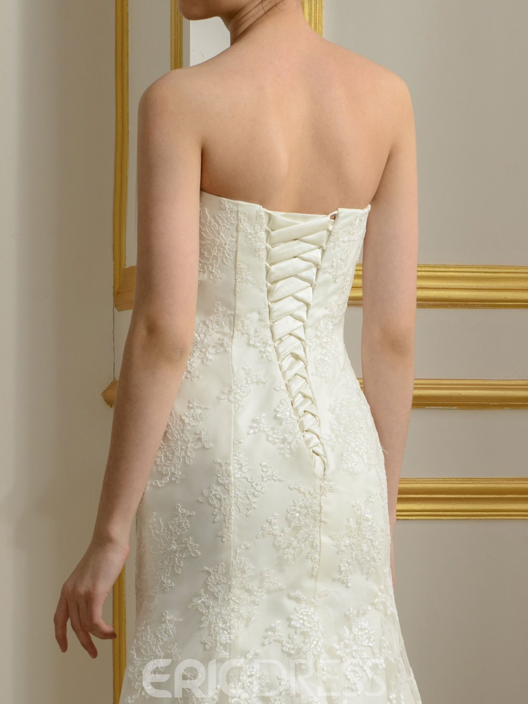 Ericdress Elegant Appliques Two-Pieces Wedding Dress