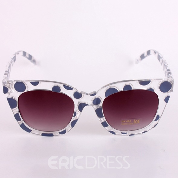Ericdress Polka Dot Square Fame Sunglasses
