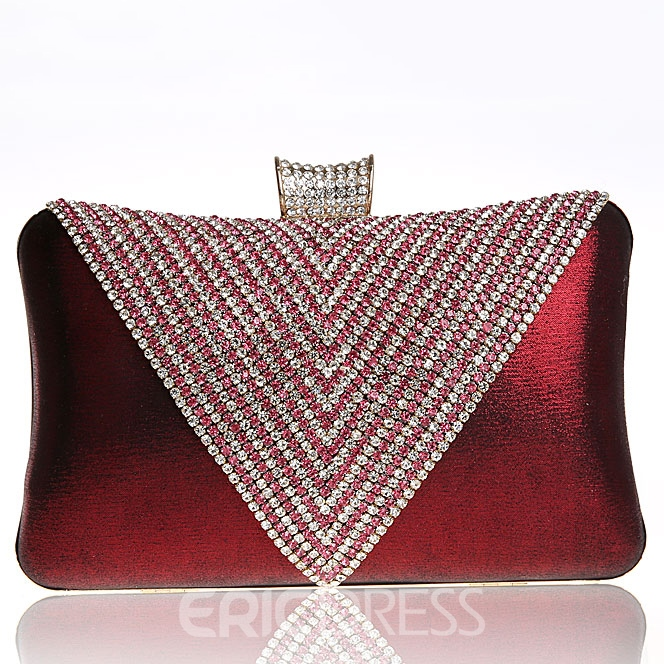 Ericdress Triangle Rhinestone Evening Clutch