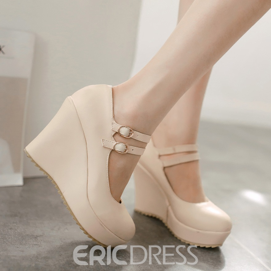 Ericdress Lovely Strappy Wedge Heel Pumps