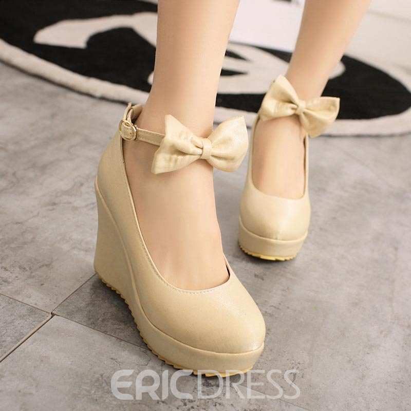 Ericdress New Sweet Bowtie Wedges