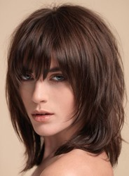 Ericdress Layered Shag Hairstyle with Full Fringe Middle Length Synthetic Capless Women Wigs thumbnail