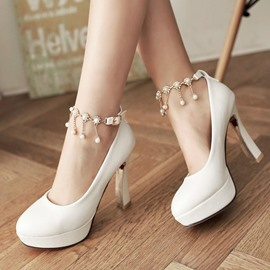 Ericdress Delicate Pearl Tassels Prom Shoes