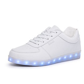Ericdress Round Toe Flat Heel Lace up Men's LED Shoes