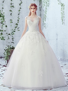 Ericdress Beautiful Appliques Ball Gown Wedding Dress