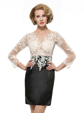 Ericdress Fancy Sheer Sheath Mother Of The Bride Dress