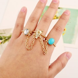 Ericdress Three Circle Fox Ring